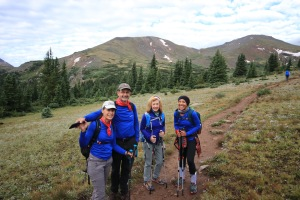 Part of our group that hiked Mt. Massive.